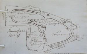 Schets plattegrond 1820